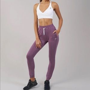 Gymshark Purple Heathered Solace Joggers, XS